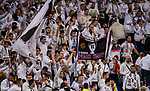 Fans of Real Madrid shows their supports to their team prior to the UEFA Champions League 2017-18 match between Real Madrid and Tottenham Hotspur FC at Estadio Santiago Bernabeu on 17 October 2017 in Madrid, Spain. Photo by Diego Gonzalez / Power Sport Images