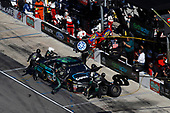 Monster Energy NASCAR Cup Series<br /> AAA Texas 500<br /> Texas Motor Speedway<br /> Fort Worth, TX USA<br /> Sunday 5 November 2017<br /> Gray Gaulding, BK Racing, Earthwater Toyota Camry, pit stop<br /> World Copyright: Michael L. Levitt<br /> LAT Images