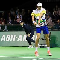 ABN AMRO World Tennis Tournament, Rotterdam, The Netherlands, 16 Februari, 2017, Pierre-Hugues Herbert (FRA)<br /> Photo: Henk Koster