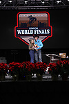 Kayce Hawkins during the Break Away and Tie Down Roping Back Number presentation at the Junior World Finals. Photo by Andy Watson. Written permission must be obtained to use this photo in any manner.