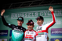 podium:<br /> <br /> 1st place - Caleb Ewan (AUS/Lotto Soudal)<br /> 2nd place - Pascal Ackermann (GER/Bora Hansgrohe) <br /> 3th place -  Jasper Philipsen (BEL/UAE) <br /> <br /> 99th Brussels Cycling Classic 2019<br /> One Day Race: Brussels > Brussels 189.4km<br /> <br /> ©kramon