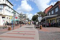 Fußgängerzone von Wangerooge - Wangerooge 20.07.2020: Flug nach Wangerooge