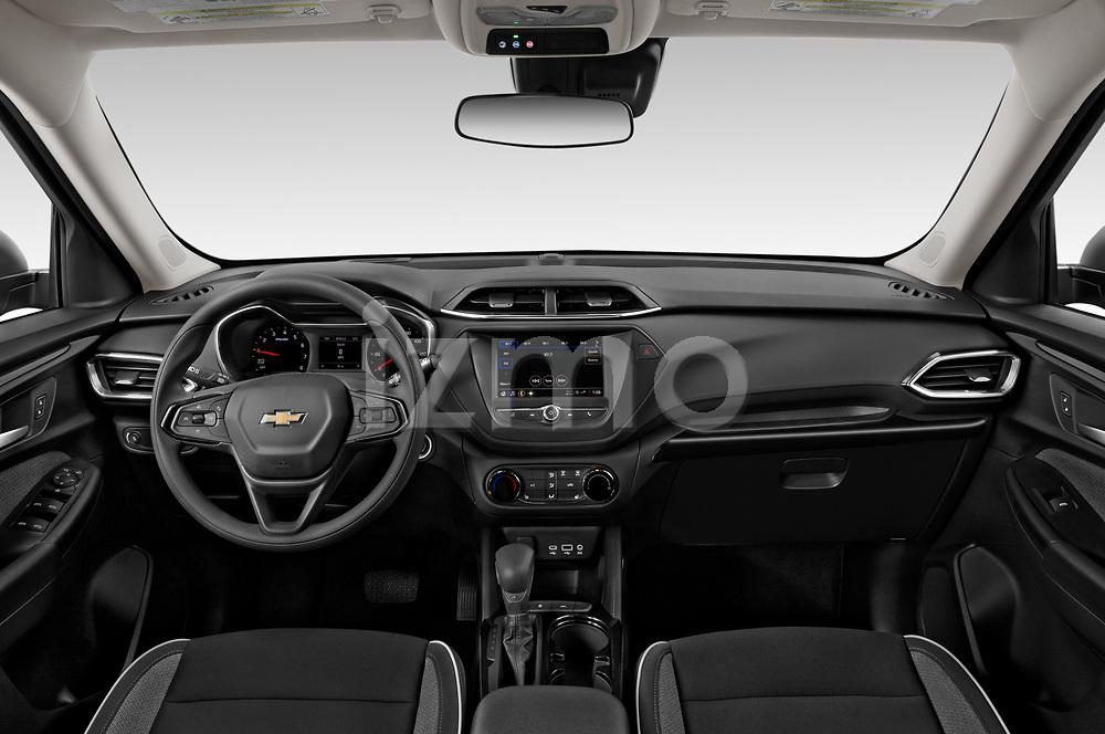 Straight dashboard view of a 2021 Chevrolet Trailblazer LT 5 Door SUV