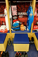 Harrison, NJ - Tuesday April 10, 2018: New York Red Bulls locker room, Luis Robles prior to leg two of a CONCACAF Champions League semi-final match between the New York Red Bulls and C. D. Guadalajara at Red Bull Arena. C. D. Guadalajara defeated the New York Red Bulls 0-0 (1-0 on aggregate).