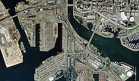 aerial map view Port of Long Beach California