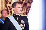 Ambassador of El Salvador , SR. Jorge Alberto Palencia Mena present his credentials to King Felipe VI of Spain during royal audiences at Zarzuela Palace in Madrid, July 27, 2015. <br /> (ALTERPHOTOS/BorjaB.Hojas)