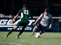 Washington, DC - September 21, 2014: Georgetown defeated William & Mary 1-0 during a men's soccer match at Shaw Field.
