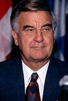 Montreal, CANADA, File Photo between 1990 and 1995 of Guy Saint-Pierre when he was President of SNC, which  became  SNC-Lavallin.<br /> <br /> Photo : Agence Quebec Presse - Pierre Roussel