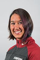 STANFORD, CA - Mina Shah of the Stanford University Women's Synchronized Swimming Team