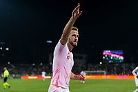 Harry Kane of England celebrates after scoring his side's second goal to make the score 0-2 during the UEFA Euro 2020 Qualifying Group A match between Kosovo and England at Fadil Vokrri Stadium on November 17th 2019 in Pristina, Kosovo. (Photo by Daniel Chesterton/phcimages.com)<br /> Photo PHC Images / Insidefoto <br /> ITALY ONLY
