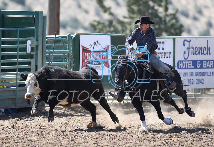 Jimmy Lee competes in the ranch horse class slack event at the Minden Ranch Rodeo on Saturday, July 23, 2011, in Gardnerville, Nev. .Photo by Cathleen Allison