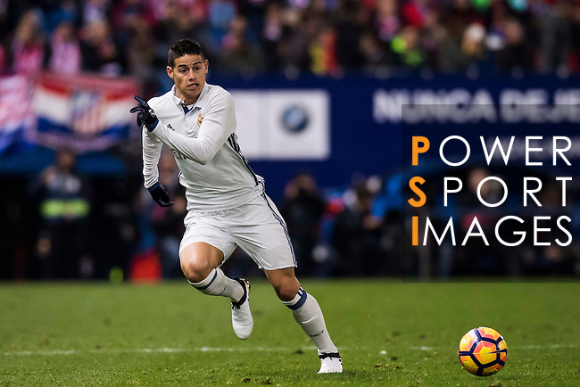 James Rodriguez of Real Madrid in action during their La Liga match between Atletico de Madrid and Real Madrid at the Vicente Calderón Stadium on 19 November 2016 in Madrid, Spain. Photo by Diego Gonzalez Souto / Power Sport Images