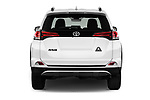 Straight rear view of a 2018 Toyota RAV4 Adventure 5 Door SUV stock images