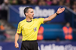 Referee Santiago Jaime Latre in action during the La Liga match between Atletico de Madrid and RCD Espanyol at the Vicente Calderón Stadium on 03 November 2016 in Madrid, Spain. Photo by Diego Gonzalez Souto / Power Sport Images