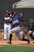 Atlanta Braves Alejandro Salazar (34) during an instructional league game against the Houston Astros on October 1, 2015 at the Osceola County Complex in Kissimmee, Florida.  (Mike Janes/Four Seam Images)