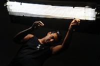 Lavoratori dello spettacolo durante la riprese di Casa Coop.Workers in the entertainment during the filming of House Coop.Mario Lozada.Elettricista.Electrician..CASA COOP è una sit-com, prodotta dalla Coop, sulla vita quotidiana di persone di varia umanità, ambientata in un condominio. Gli episodi saranno diffusi via internet.HOUSE COOP is a sit-com produced by the Coop, about daily life of people with different  humanity , that live in a condominium. Episodes will be disseminated by Internet. ...