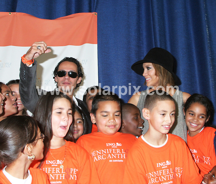 **ALL ROUND PICTURES FROM SOLARPIX.COM**.**SYNDICATION RIGHTS FOR UK, SPAIN, PORTUGAL, AUSTRALIA, S.AFRICA & DUBAI (U.A.E) ONLY**. ING Presents Kick-Off of Jennifer Lopez and Marc Anthony 'En Concierto' Tour at PS36 Union Port School in the Bronx in New York in the USA, held on the 25_09_07..JOB REF:4838-PHZ    DATE:25_09_07 .**MUST CREDIT SOLARPIX.COM OR DOUBLE FEE WILL BE CHARGED* *UNDER NO CIRCUMSTANCES IS THIS IMAGE TO BE REPRODUCED FOR ANY ONLINE EDITION WITHOUT PRIOR PERMISSION*