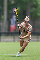 NEWTON, MA - MAY 14: Cara Urbank #26 of Boston College brings the ball forward during NCAA Division I Women's Lacrosse Tournament first round game between Fairfield University and Boston College at Newton Campus Lacrosse Field on May 14, 2021 in Newton, Massachusetts.
