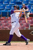 Brent Morel #21 of the Winston-Salem Dash follows through on a home run at Wake Forest Baseball Park May 10, 2009 in Winston-Salem, North Carolina. (Photo by Brian Westerholt / Four Seam Images)