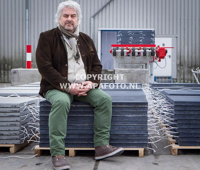 DRUTEN 260213 Frans van Haren, directeur van betonfabriek Excluton<br /> Foto Jorrit Knuvelder - APA Foto