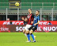 Milano  26-01-2021<br /> Stadio Giuseppe Meazza<br /> Coppa Italia Tim 2020/21<br /> Inter - Milan nella foto:    Zlatan Ibraimovic Stefan De Vrij Inter Fc                                                      <br /> Antonio Saia Kines Milano