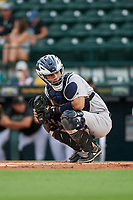 Tampa Tarpons catcher Antonio Gomez (5) during Game One of the Low-A Southeast Championship Series against the Bradenton Marauders on September 21, 2021 at LECOM Park in Bradenton, Florida.  (Mike Janes/Four Seam Images)