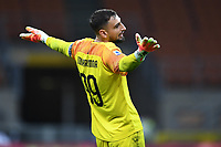 Gianluigi Donnarumma of AC Milan during the Serie A football match between AC Milan and Atalanta BC at stadio Giuseppe Meazza in Milano ( Italy ), July 24th, 2020. Play resumes behind closed doors following the outbreak of the coronavirus disease. <br /> Photo Image Sport / Insidefoto