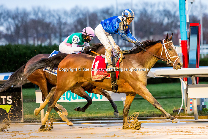 DEC 05, 2020 : Malathaat with John Velazquez aboard, earns 10 ponts for the Kentucky Oaks by winning the Grade 2 Demoiselle  Stakes, for 2-year old fillies,  Aqueduct, Ozone Park, NY.  Sue Kawczynski/Eclipse Sportswire/CSM