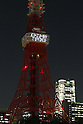 Tokyo Tower light up for March 11 third anniversary