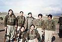 Iraq 2003.The day of the liberation of Kirkuk, women peshmergas of PUK.Irak 2003.Le jour de la liberation of Kirkuk, des femmes peshmergas de l'UPK