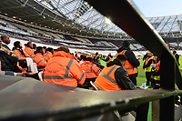 Stewards at the London Stadium during West Ham United vs Fulham, Premier League Football at The London Stadium on 22nd February 2019