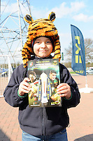 Face painting before the LV= Cup Final match between Leicester Tigers and Northampton Saints at Sixways Stadium, Worcester on Sunday 18 March 2012 (Photo by Rob Munro, Fotosports International)