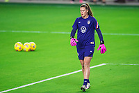 ORLANDO, FL - JANUARY 18: Allysa Naeher #1 of the USWNT before a game between Colombia and USWNT at Exploria Stadium on January 18, 2021 in Orlando, Florida.