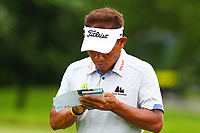 Thongchai Jaidee at the 6th tee during the BMW PGA Golf Championship at Wentworth Golf Course, Wentworth Drive, Virginia Water, England on 27 May 2017. Photo by Steve McCarthy/PRiME Media Images.