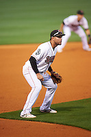 Nashville Sounds third baseman Renato Nunez (34) during a game against the Iowa Cubs on May 3, 2016 at First Tennessee Park in Nashville, Tennessee.  Iowa defeated Nashville 2-1.  (Mike Janes/Four Seam Images)