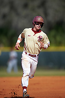 Boston College Eagles second baseman Jake Palomaki (11) runs the bases on a Joe Cronin (not shown) home run during a game against the Central Michigan Chippewas on March 8, 2016 at North Charlotte Regional Park in Port Charlotte, Florida.  Boston College defeated Central Michigan 9-3.  (Mike Janes/Four Seam Images)