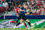 Milan Skriniar (R) of FC Internazionale fights for the ball with Diego Costa of Atletico de Madrid during their International Champions Cup Europe 2018 match between Atletico de Madrid and FC Internazionale at Wanda Metropolitano on 11 August 2018, in Madrid, Spain. Photo by Diego Souto / Power Sport Images