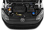 Car Stock 2021 Volkswagen Caddy-Cargo Maxi-Business 4 Door Cargo Van Engine  high angle detail view