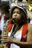 BERKELEY, CA - MARCH 30: Stanford band plays during Stanford's 84-66 win against the Ohio State Buckeyes on March 28, 2009 at Haas Pavilion in Berkeley, California.