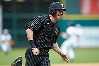 JJ Bleday (51) of the Vanderbilt Commodores hustles towards home plate against the Sam Houston State Bearkats in game one of the 2018 Shriners Hospitals for Children College Classic at Minute Maid Park on March 2, 2018 in Houston, Texas. The Bearkats walked-off the Commodores 7-6 in 10 innings.   (Brian Westerholt/Four Seam Images)