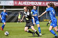 Loes Van Mullem (33) of Eendracht Aalst pictured with midfielder Sien Vandersanden (10) of KRC Genk during a female soccer game between Eendracht Aalst and Racing Genk on the 10 th and last matchday of play off 2 of the 2020 - 2021 season of Belgian Scooore Womens Super League , Saturday 29 st of May 2021  in Aalst , Belgium . PHOTO SPORTPIX.BE | SPP | DAVID CATRY