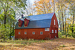 Red barn with a flag, Goshen, Litchfield Hills, CT
