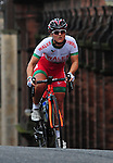Wales' Katie Curtis completes the climb up Montrose Street, Glasgow in the women's cycling road race<br /> <br /> Photographer Chris Vaughan/Sportingwales<br /> <br /> 20th Commonwealth Games - Day 11 - Sunday 3rd August 2014 - Cycling - Road Race - Glasgow - UK