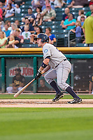 Mike Zunino (23) of the Tacoma Rainiers at bat against the Salt Lake Bees in Pacific Coast League action at Smith's Ballpark on August 31, 2015 in Salt Lake City, Utah. Salt Lake defeated Tacoma 6-5.  (Stephen Smith/Four Seam Images)
