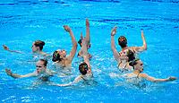 Artistic Swimming<br /> Team Free<br /> Final<br /> BLR BELARUS<br /> KIRYLIUK Marharyta<br /> KOUTSUN Hanna<br /> KUDZINA Yana<br /> KULIASHOVA Kseniya<br /> NAVASIOLAVA Anastasiya<br /> PUZ Valeryia<br /> TRATSEUSKAYA Kseniya<br /> VYSOTSKAYA Aliaksandra<br /> BUTSEL Vera<br /> SUVALAVA Anastasiya<br /> XXXV LEN European Aquatic Championships<br /> Duna Arena<br /> Budapest  - Hungary  11/5/2021<br /> Photo Pasquale Francesco Mesiano / Deepbluemedia / Insidefoto