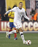 Jermaine Jones #15 of the USA MNT during an international friendly match against Colombia at PPL Park, on October 12 2010 in Chester, PA. The game ended in a 0-0 tie.