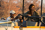 Lodge guide, Mullah Maipenzi, taking photographs for biologists during game drive, Kafue National Park, Zambia