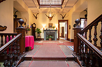 """BNPS.co.uk (01202) 558833. <br /> Pic: KnightFrank/BNPS<br /> <br /> Pictured: Entrance hall. <br /> <br /> A castle that was burnt down by a pirate, involved in the English Civil War and has been in the same family for five centuries is on the market for offers over £650,000.<br /> <br /> Kilberry Castle, which dates back to the 15th century, has an incredible history and still has a wealth of original features including a 288-year-old mausoleum.<br /> <br /> It sits in 21 acres of land on the Scottish west coast, with stunning views over Kilberry Bay and out to the islands of Islay, Jura and Gigha.<br /> <br /> The four-storey tower house now needs a buyer """"with deep pockets and great imagination"""" to carry out a complete refurbishment but it has a lot of potential."""