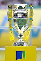 The Aviva Premiership trophy on display after the Aviva Premiership Final between Leicester Tigers and Northampton Saints at Twickenham Stadium on Saturday 25th May 2013 (Photo by Rob Munro)