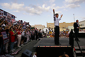 Allentown, Pennsylvania.USA.September 10, 2004..Democratic Presidential hopeful Senator John Kerry arrives at the rally site.